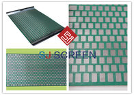 China FLC 500 Wave Typed DurableShaker Screen Mesh High Utilization Rate Green Color factory