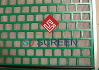 Drilling Waste Treatment Vibrating Screen Wire Mesh Rectangle Hole Shape 1050*695mm