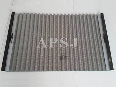 Waved Type Oilfield Screens Rectangular Mesh Hole For Mud Separation