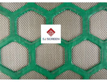 China Size Custom Mi Swaco Shaker Screens Q 235 Steel / Composite Frame Material distributor