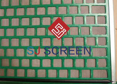 China Drilling Waste Treatment Vibrating Screen Wire Mesh Rectangle Hole Shape 1050*695mm distributor